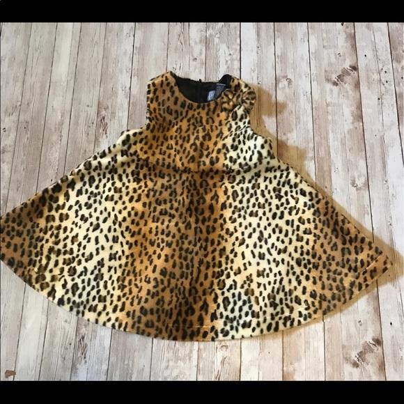 Leopard Print Velvet Flared Dress